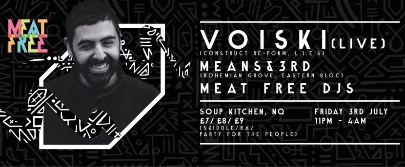 Voiski Live! for Meat Free at Soup Kitchen