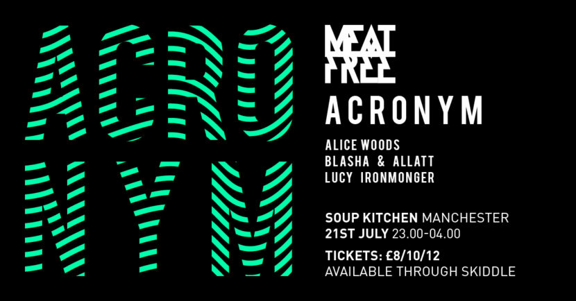 acronym meat free manchester techno