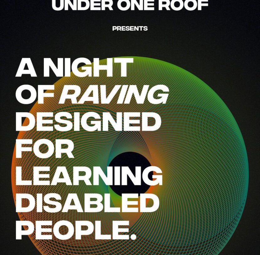 under one roof meat free manchester disabled rave