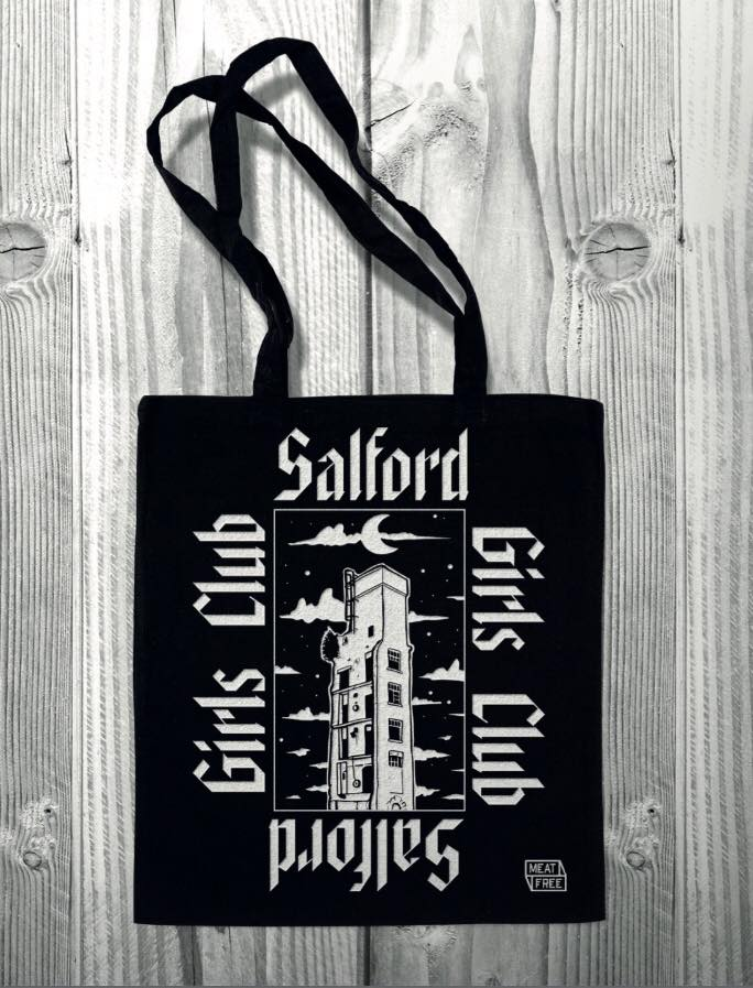 Salford Girls Club Black Tote Bag