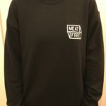 Meat Free WoF Front Black Jumper