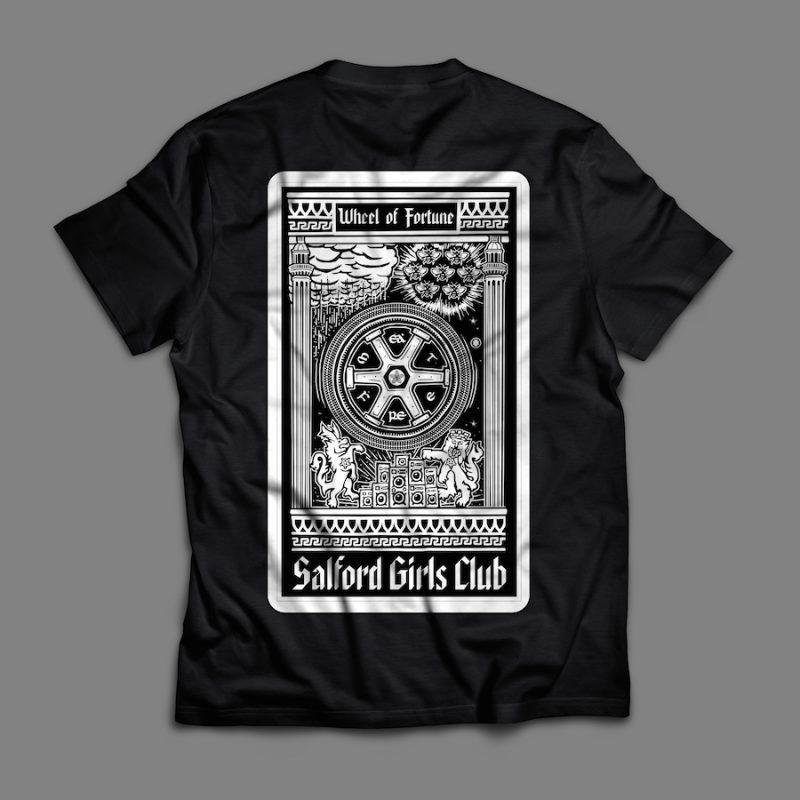 Salford Girls Club WoF Black T-Shirt (Back)