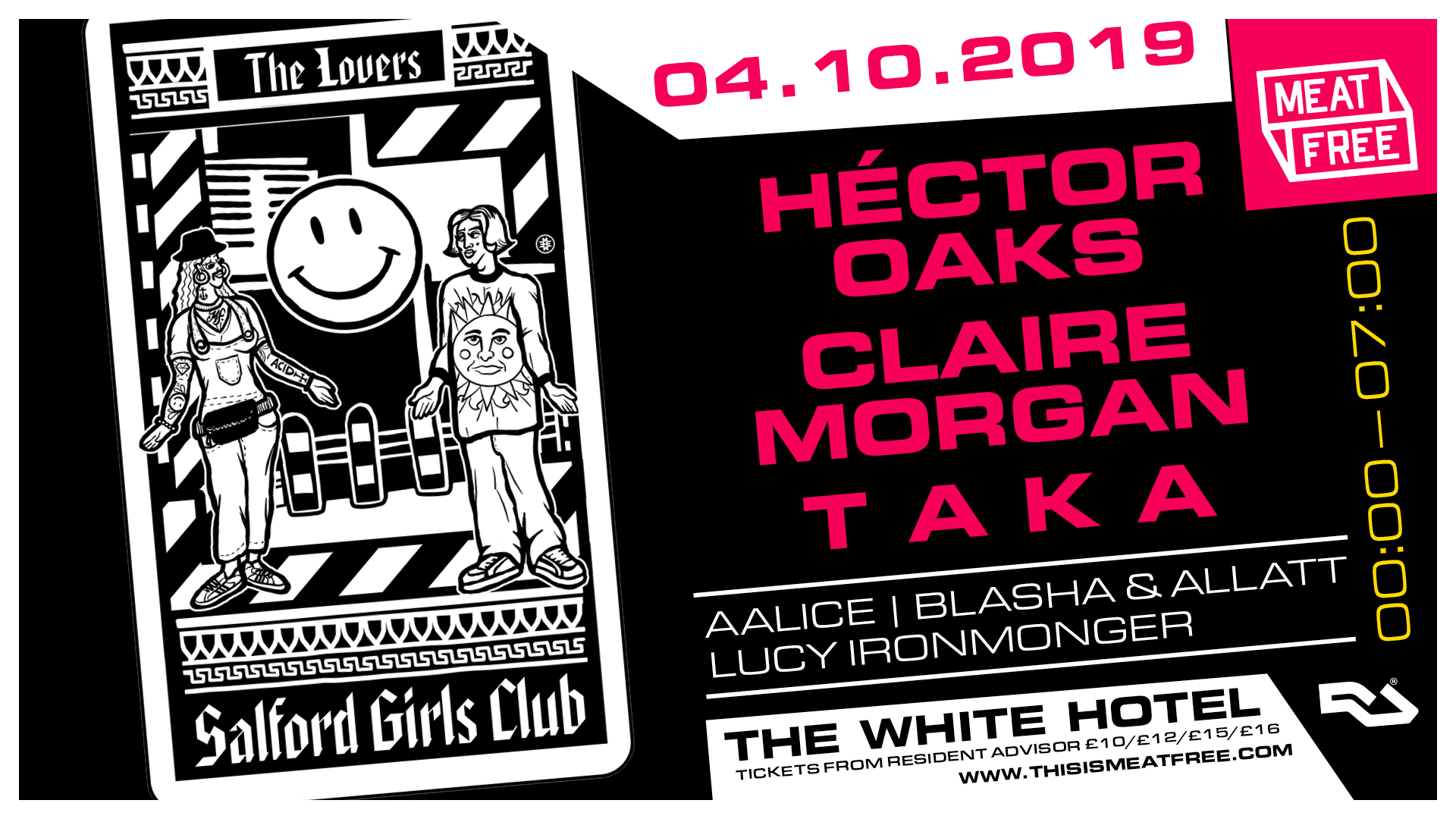 04.10.19: Héctor Oaks, Claire Morgan & T A K A