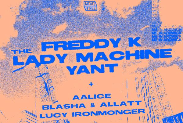 Meat Free Freddy K The Lady Machine Yant Square