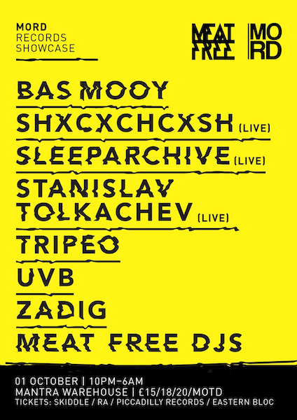 Meat Free x Mord 2016 Flyer